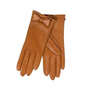 Tory Burch Bow Leather Gloves